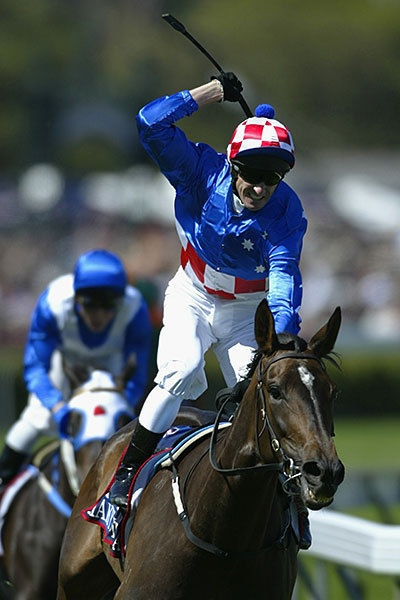Watching Makybe Diva from the finish post take out her 3rd Melbourne Cup!