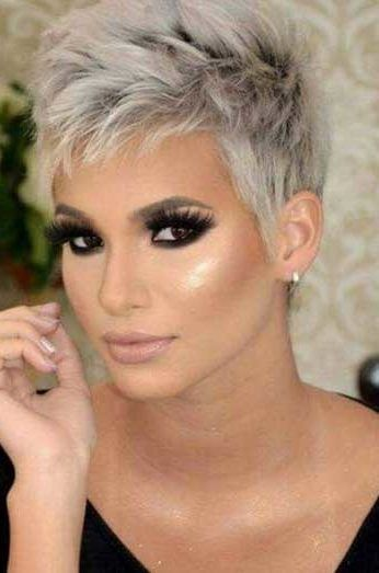 Latest Short Pixie Cuts Short pixie haircuts cause unprecedented interest in women, pixie is particularly popular in 2019. In the photo you can see th..., Pixie Cuts