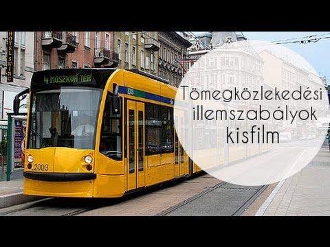 Tömegközlekedési illemszabályok hallgatói kisfilm