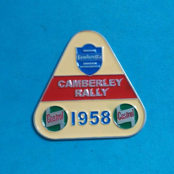 Badge Castrol Camberley Rally 1958