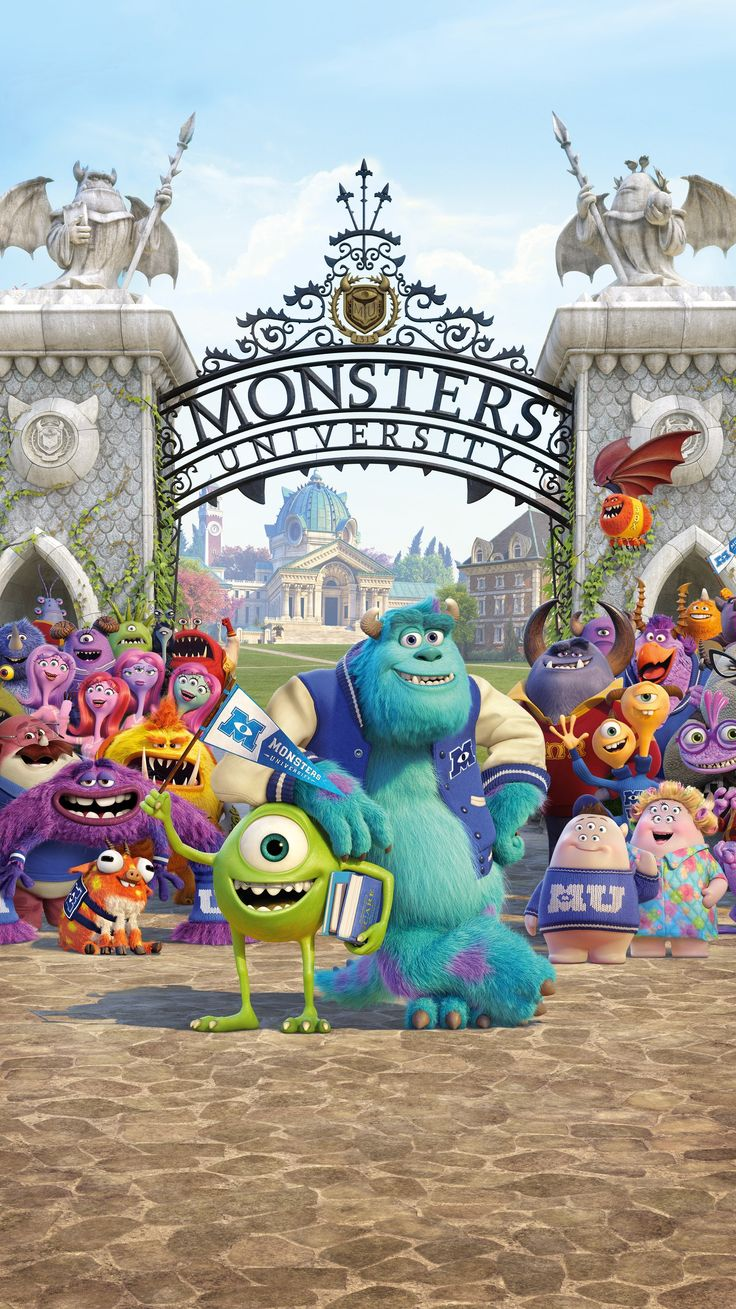 Monsters University (2013) Phone Wallpaper | Moviemania