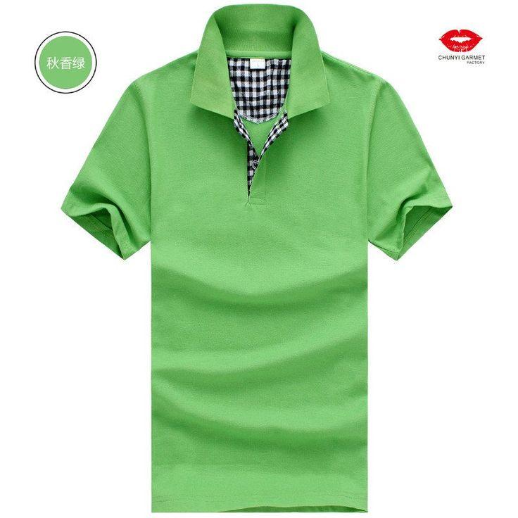 Short Sleeve Plaid Trim Men's Polo Shirt - Loluxe - 8