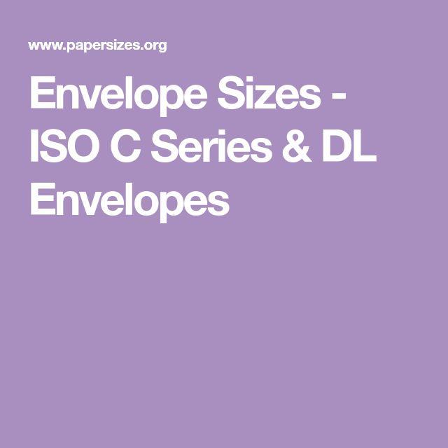 Envelope Sizes - ISO C Series & DL Envelopes