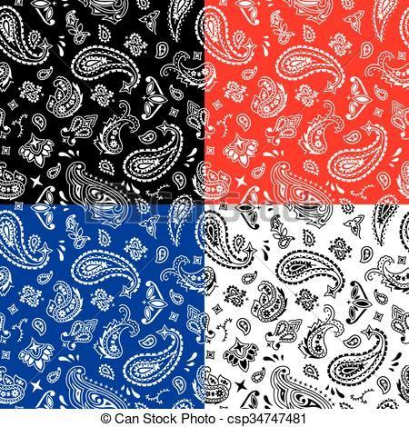 Vector - pañuelo, Seamless, patrón - stock de ilustracion, ilustracion libre de, stock de iconos de clip art, logo, arte lineal, retrato de EPS, Retratos, gráficos, dibujos gráficos, dibujos, imágenes vectoriales, trabajo artístico, Arte Vectorial en EPS