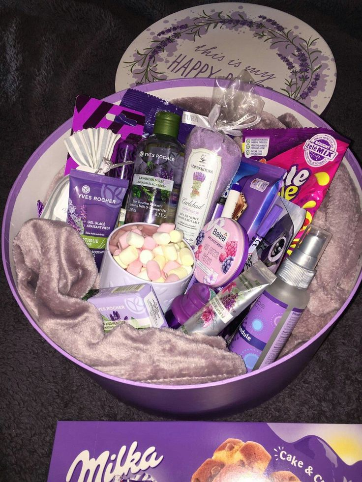 Purple gift box in 2020 Birthday gifts for best friend