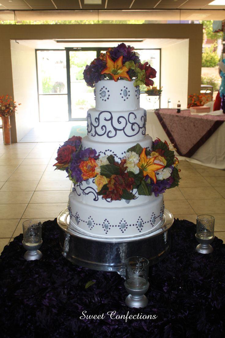 Plum Fall wedding Cake