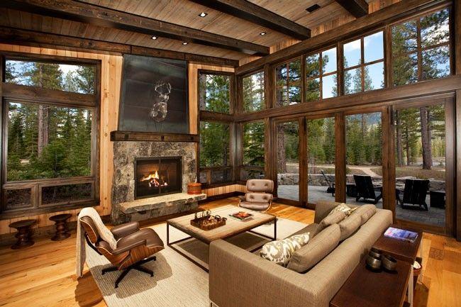 Fantastico salotto stile lodge vicino al Lago Tahoe, California (USA)