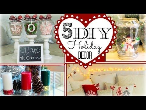 (18) ❄ 5 DIY Holiday Decorations ❄ - YouTube