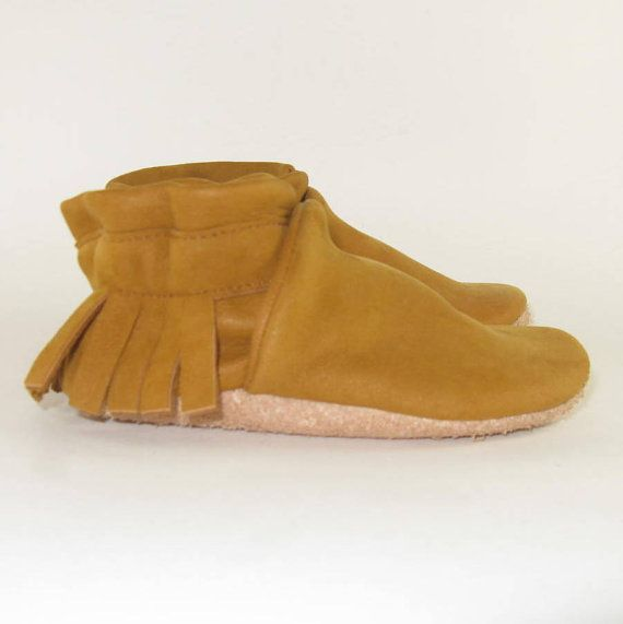 Soft Sole Eco Friendly Leather Baby Shoes Moccasins 6 by KaBoogie, $30.00