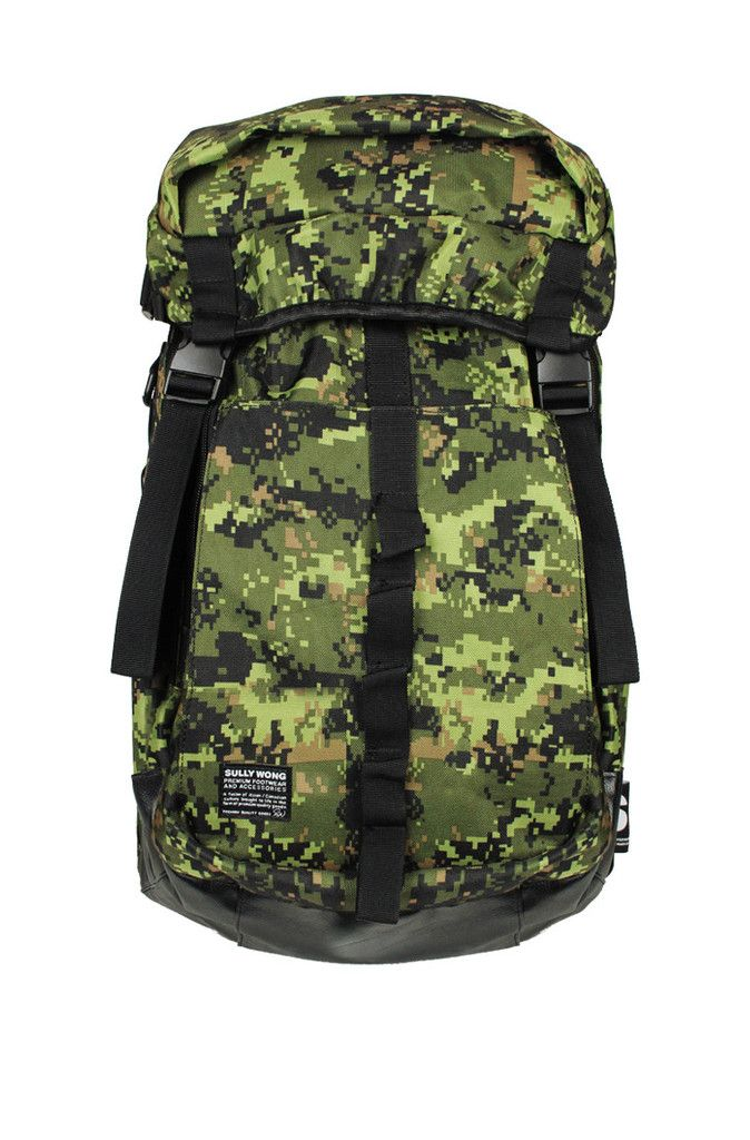 Canadian Armed Forces Inspired Digi. Camo Series - Rucker w/ fx. leather