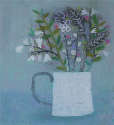 Basket with cyclamen and fruit by Emma McClure