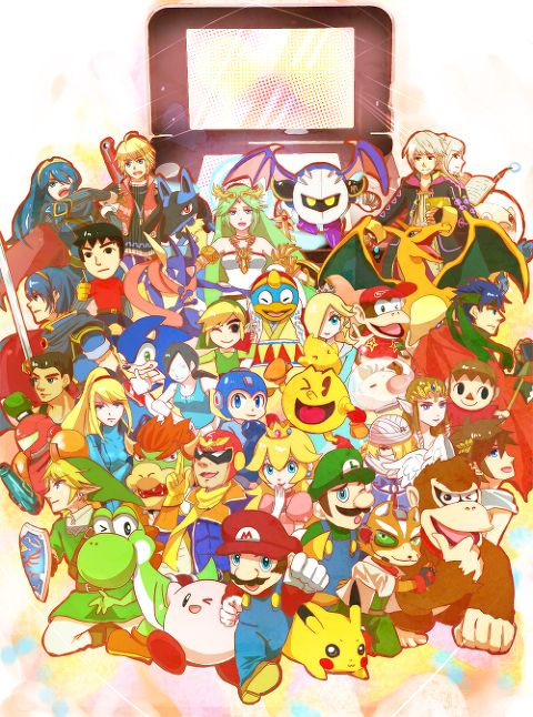 Jin of Smash Bros. summer by Nagisa via pixiv