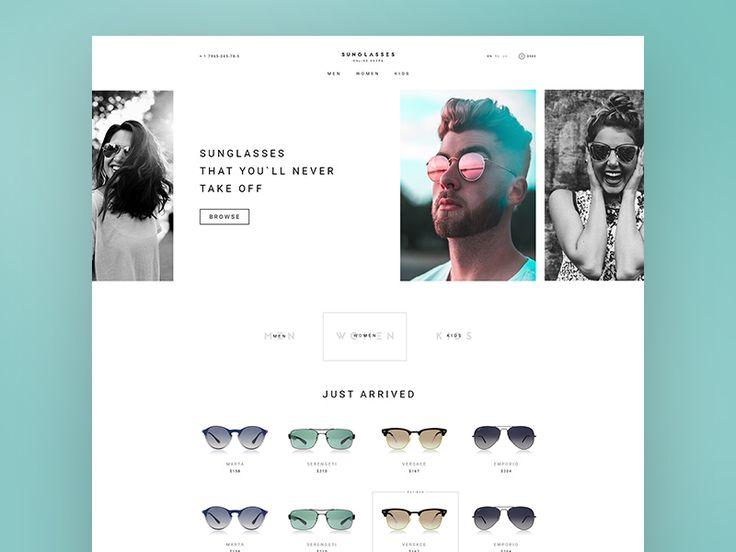 Sunglasses Store Website Template