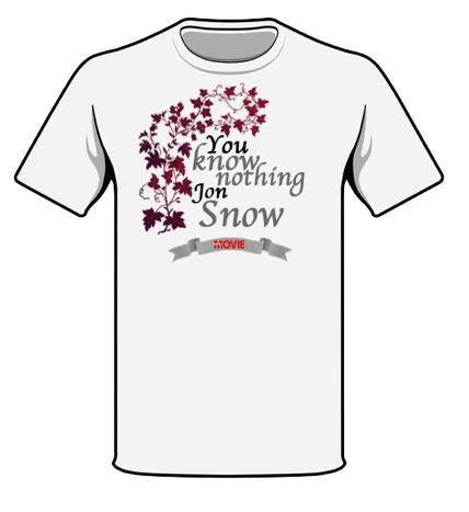 """""""You Know Nothing Jon Snow"""" è al momento terza nel sondaggio per il #Contest Il trono di spade!  In palio quattro t-shirt originali a tema Game of Thrones  Qui tutte le info per partecipare e votare! --> http://goo.gl/5ysfUF"""