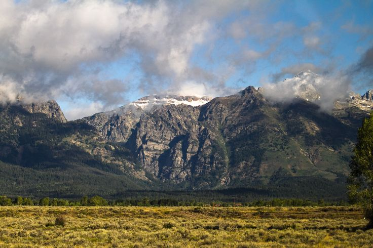 Grand Tetons #grandteton #clouds #tetons http://hikersbay.com/go/usa