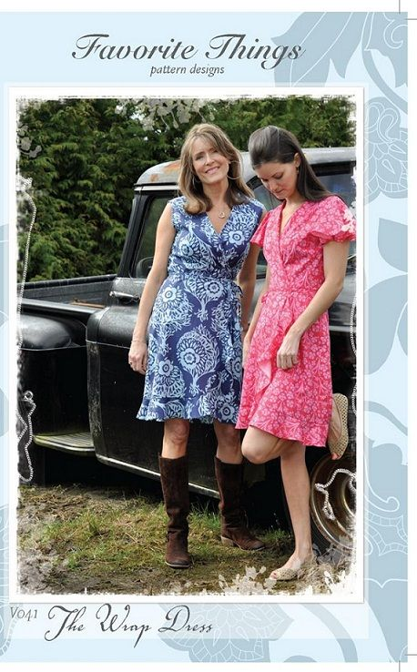 Favorite Things V041 The Wrap Dress pattern sewing