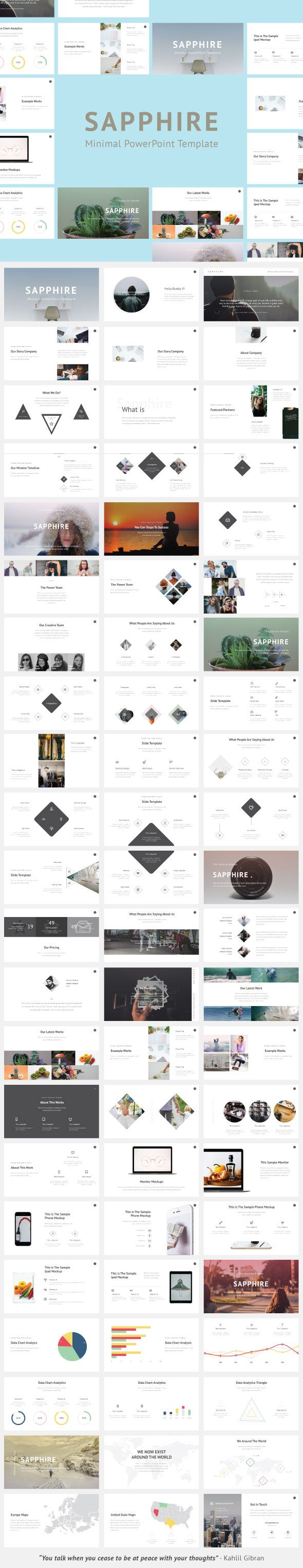 Sapphire Minimal PowerPoint Template