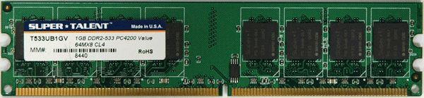 Super Talent DDR2-533 1GB/64x8 CL4 Memory