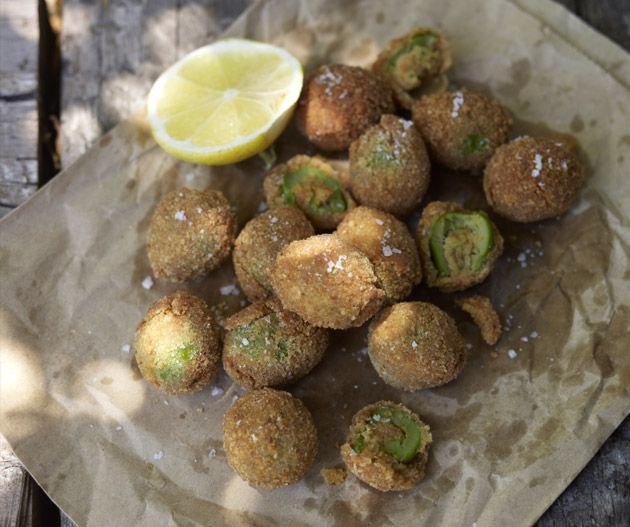 Stuffed Fried Olives from Made in Italy by Silvia Colloca  ||  Photography by Chris Chen