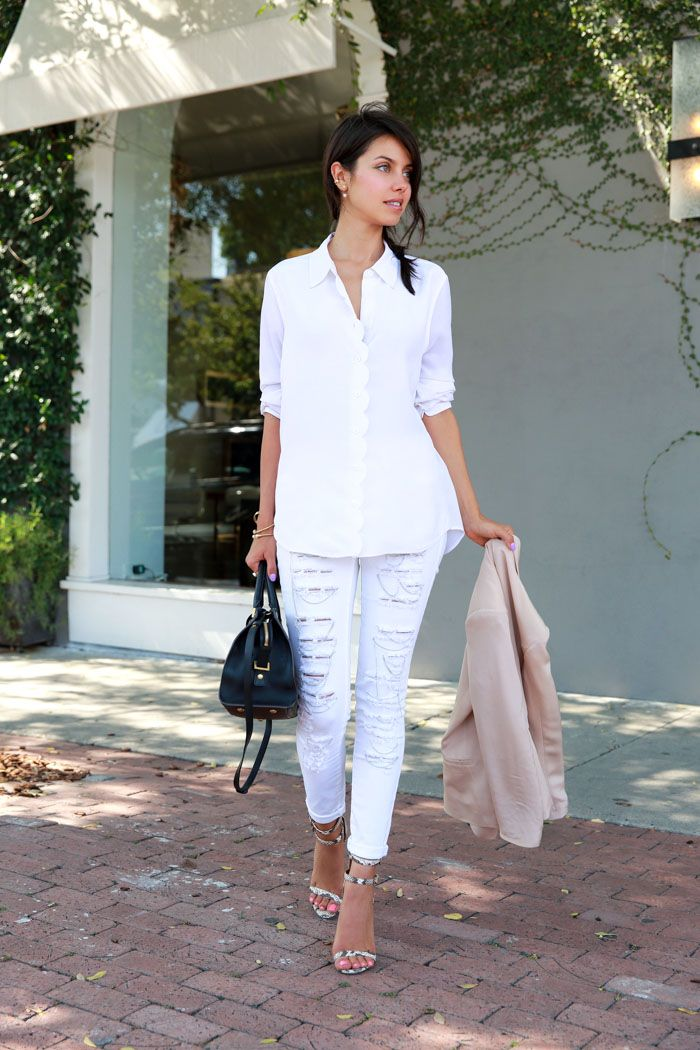 Trendy Looks With White Jeans | Young Craze