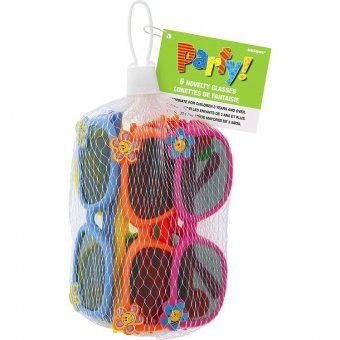 Novelty Sunglasses, these make fab party bag fillers! Colourful fun for all, and only £1.96 for a pack of 6!