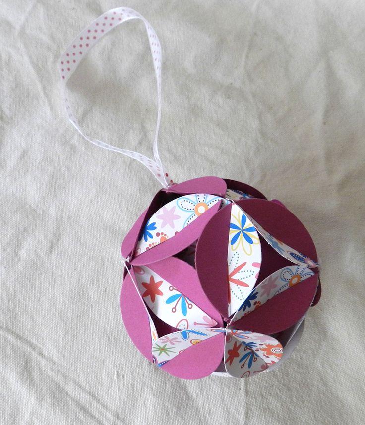 Dekoratiuni: Glob origami