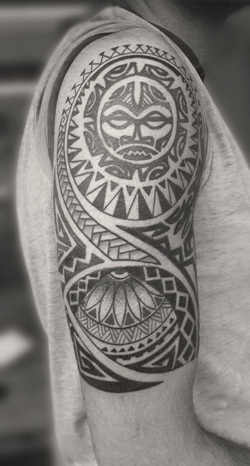 Maori tattoo by Melek Taştekin  #tattoo #tattoos #maoritattoo #maoritattoos #armtattoo #maori  #maoridesign #armsleeve #dövme