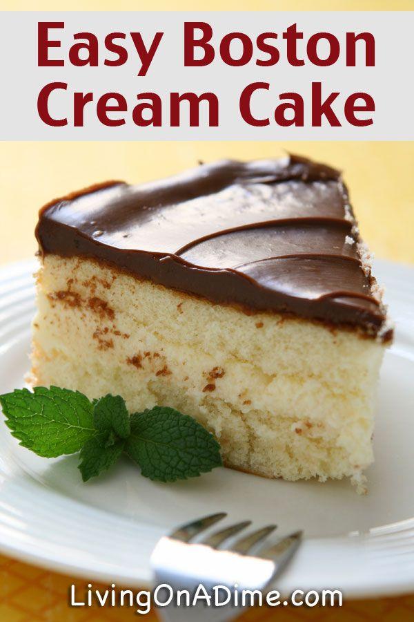 Easy Boston Cream Cake Recipe