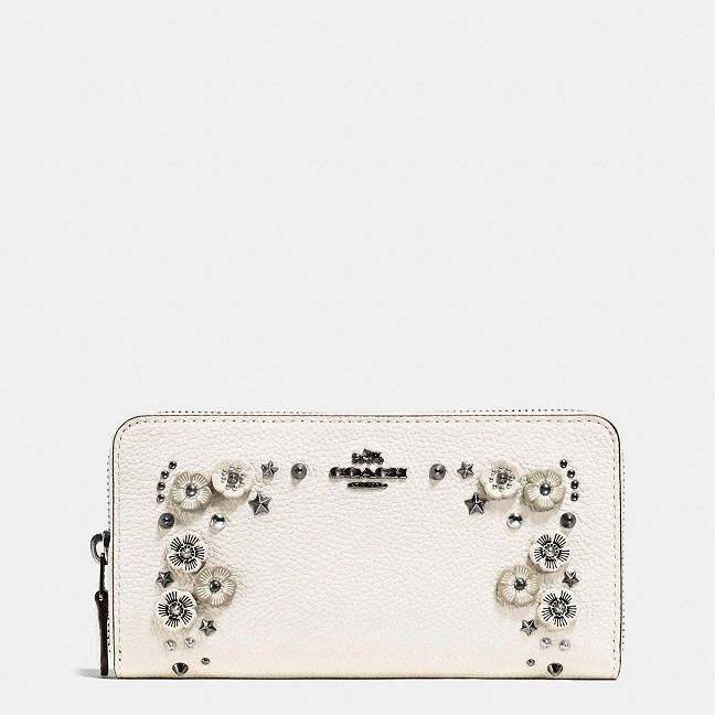 Accordion Zip Wallet in Polished Pebble Leather With Willow Floral STYLE NO. 59387 $275