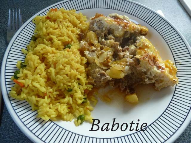 Babotie Recipe