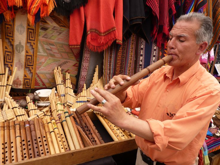 Making music in the famous open air market of Pisaq. Jose Francisco makes the instruments he plays and sells! #travel #Cusco #SacredValley #worldmusic