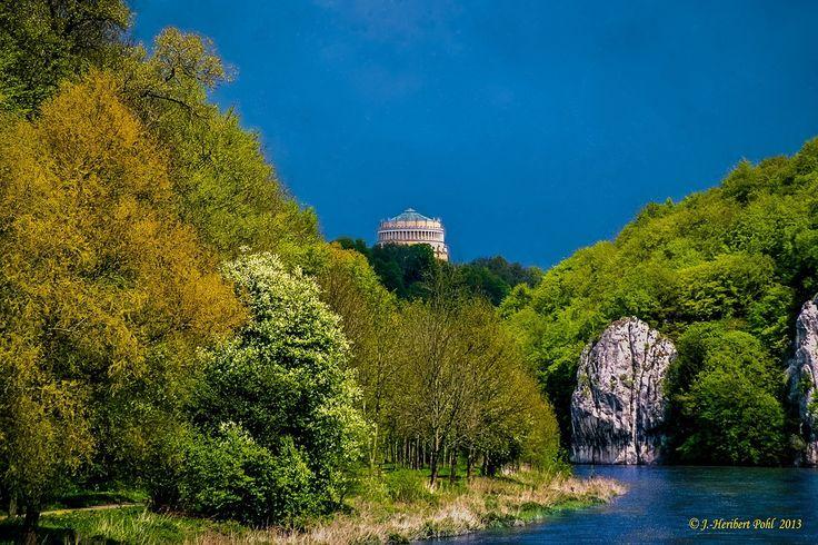 Donau Befreiungshalle Kelheim Bayern