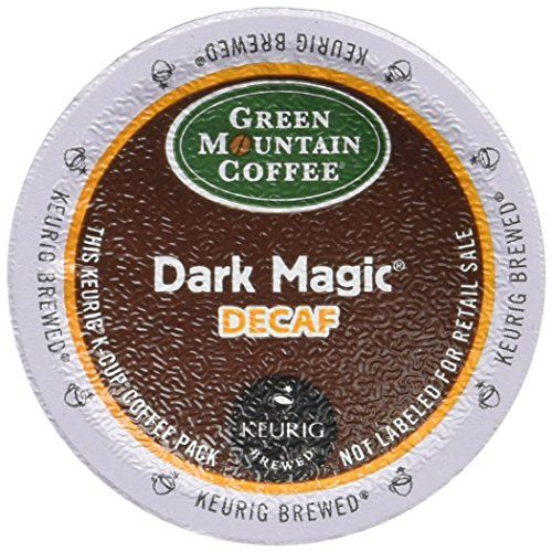 Green Mountain Dark Magic DECAF 96 K-Cups  Spellbinding complexity in a decaf. Deep, dark, and intense. Excellent as a drip coffee too!  Includes 96 K-Cups. Dark Magic Decaf, K-Cup Portion Pack for Keurig Brewers 24-Count (Pack of 4) Dark Magic Decaf, K-Cup Portion Pack for Keurig Brewers 24-Count (Pack of 4) Fresh, bold and flavorful, our Decaf coffee packs in all the happiness without the jitters Dark Magic Decaf, K-Cup Portion Pack for Keurig Brewers 24-Count (Pack of 4) Dark Magi..