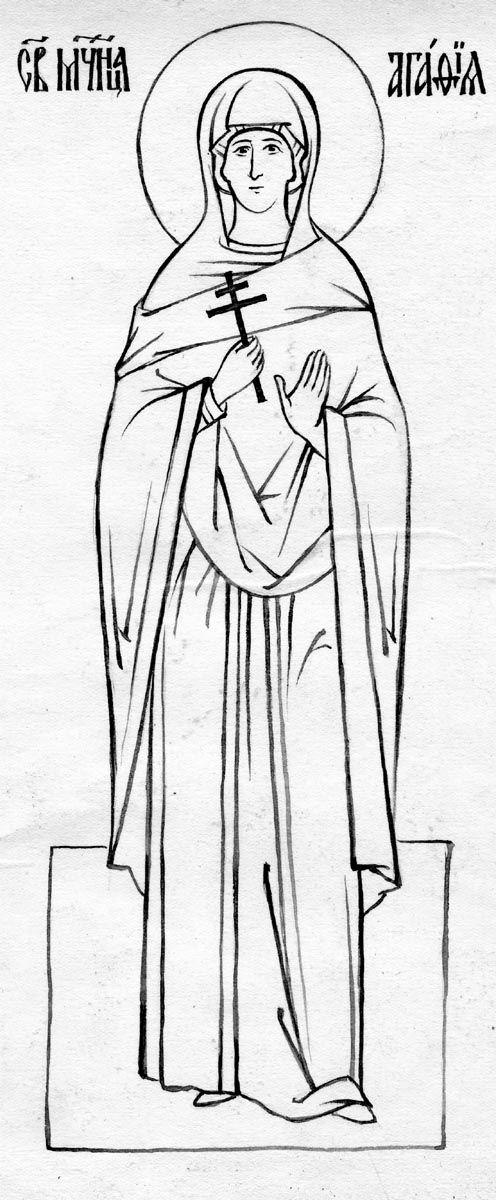 3425.jpg (496×1200 [Mosca. 1957 -. 1980] Monte. Agata. Nun Juliana (Sokolov). Figura. Sergiev Posad. 1957 - 1980 anni. 26.5 x 14.3. Breakthrough - Campione tazza iconografica. Scuola Izofond Ikonopisnoj.)