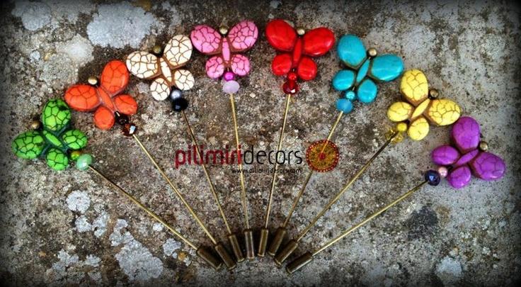 Alfileres de mariposa ¿Cual es el color que mas te gusta?