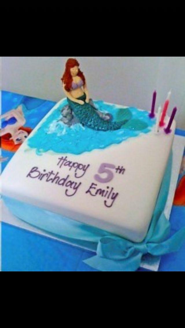 My Ariel/mermaid birthday cake