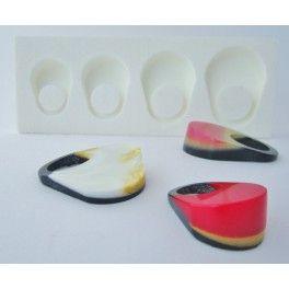 Moule silicone pour bague en résine modèle EMMA. Silicone rubber ring mold for resin casting. anillos moldes. Zelf Giethars Resin Sieraden Maken