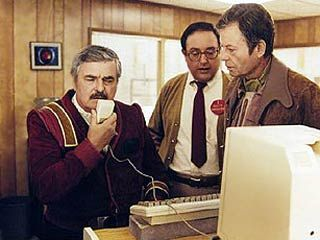 The Voyage Home - Scotty attempts to interface with a 20th-Century computer.
