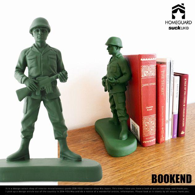 【楽天市場】Soldier BOOK END / ソルジャー ブックエンド suck UK / サックユーケー 兵士 兵隊 TOY ブック 本 エンド 本立て DETAIL 【あす楽対応_東海】:interiorzakka ZEN-YOU