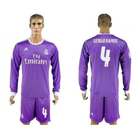 Real Madrid 16-17 #Sergio Ramos 4 Bortatröja Långärmad,304,73KR,shirtshopservice@gmail.com