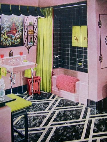 Retro Pink Bathroom Ideas : Best images about pink bathroom redo on