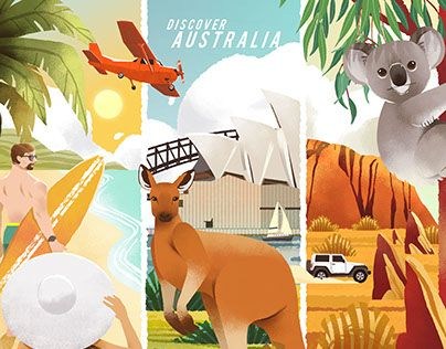 """Check out new work on my @Behance portfolio: """"Discover Australia"""" http://be.net/gallery/57125187/Discover-Australia"""