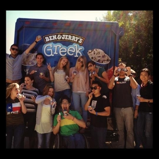 Ben & Jerry's truck visits Klout