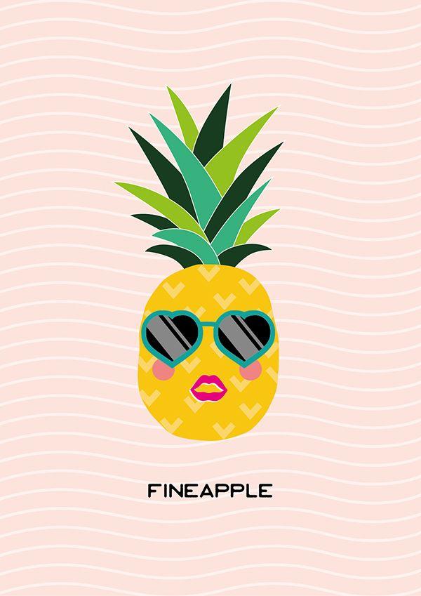 cute pineapple with sunglasses. \u0027fineapple\u0027 printable pineapple wall art cute with sunglasses