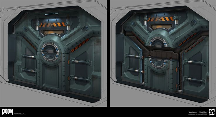 A door and some modular  elements designed for some slightly industrial areas of DOOM(2016).   Official Website: http://doom.com/  © id Software, LLC, A Zenimax Media Company