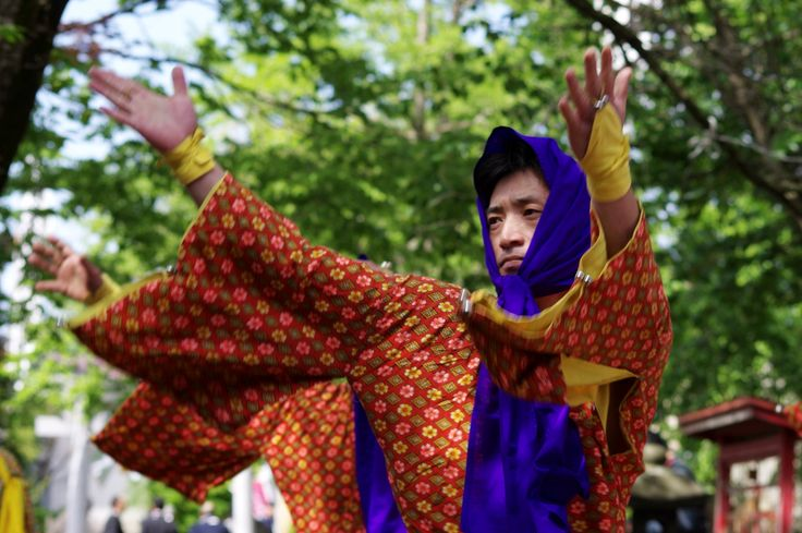 16 Akita Hachirogata town Gannin Dance Japan 2015 2015年5月5日 八郎潟町 一日市神社 大人願人踊り