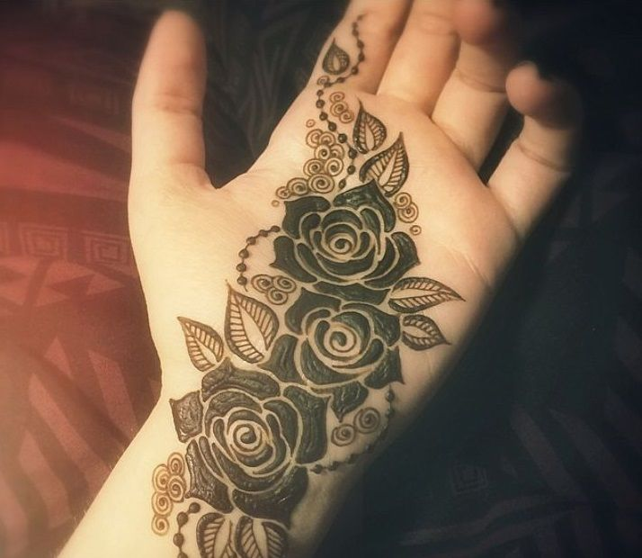 15 Glamorous Rose Flower Mehndi Designs 2017 - SheIdeas