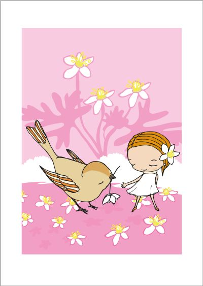Springtime print via Terese Bast Papershop. Click on the image to see more!