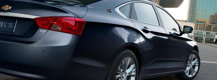 Rear view of the 2016 Chevrolet Impala full size sedan.