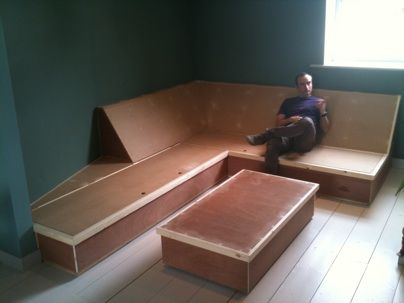 built in sofa   bespoke built in corner sofa with storage. It looks better with the ...